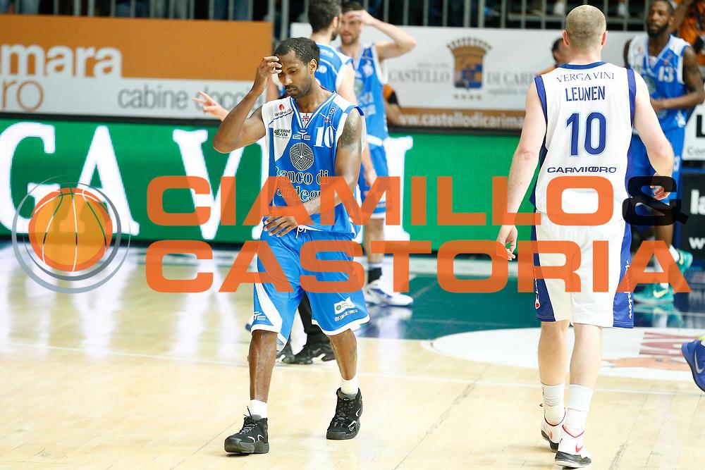 DESCRIZIONE : Cantu Lega A 2012-13 Lenovo Cantu Banco di Sardegna Sassari playoff quarti di finale gara 3<br /> GIOCATORE : Bootsy Thornton<br /> CATEGORIA : Ritratto Delusione<br /> SQUADRA : Banco di Sardegna Sassari<br /> EVENTO : Campionato Lega A 2012-2013<br /> GARA : Lenovo Cantu Banco di Sardegna Sassari<br /> DATA : 13/05/2013<br /> SPORT : Pallacanestro <br /> AUTORE : Agenzia Ciamillo-Castoria/G.Cottini<br /> Galleria : Lega Basket A 2012-2013  <br /> Fotonotizia : Cantu Lega A 2012-13 Lenovo Cantu Banco di Sardegna Sassari playoff quarti di finale gara 3<br /> Predefinita :