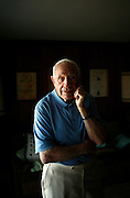 """Former Chicago Cardinals football player Charley Trippi was inducted into the College Football Hall of Fame and the Pro Football Hall of Fame during his career in the sport. """"I'll always be a Georgia fan,"""" she said, """"Georgia's my home."""" He poses in his Athens, Georgia home. KENDRICK BRINSON"""