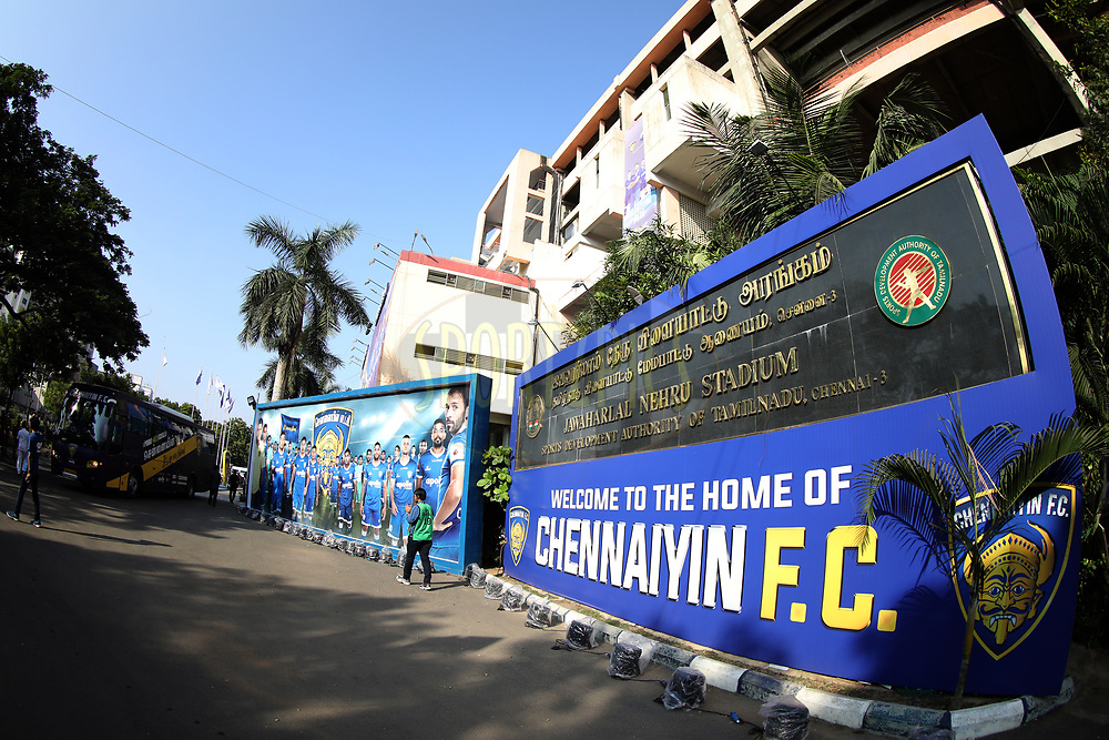 General view during match 41 of the Hero Indian Super League between Chennaiyin FC and Delhi Dynamos FC   held at the Jawaharlal Nehru Stadium, Chennai India on the 7th January 2018<br /> <br /> Photo by: Arjun Singh  / ISL / SPORTZPICS
