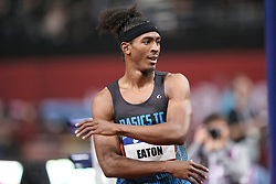 February 7, 2018 - Paris, Ile-de-France, France - Jarret Eaton of USA compete in 60m Hurdles during the Athletics Indoor Meeting of Paris 2018, at AccorHotels Arena (Bercy) in Paris, France on February 7, 2018. (Credit Image: © Michel Stoupak/NurPhoto via ZUMA Press)