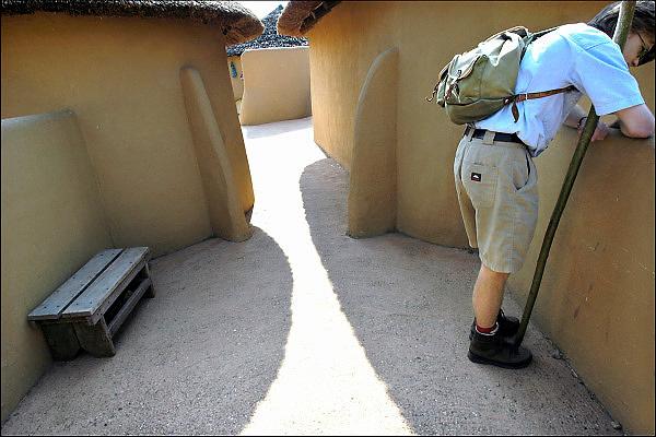 Nederland, Berg en Dal, 13-4-2011Afrika museum. Nationaal museum weekeinde.  Nationaal Museum van Wereldculturen. In het Ghanese dorp.Foto: Flip Franssen/Hollandse Hoogte