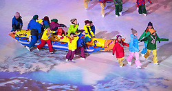 March 9, 2018 - Pyeongchang, South Korea - Korean children take part in Opening Ceremony for the 2018 Pyeongchang Winter Paralympic Games March 9, 2018. Photo by Mark Reis (Credit Image: © Mark Reis via ZUMA Wire)