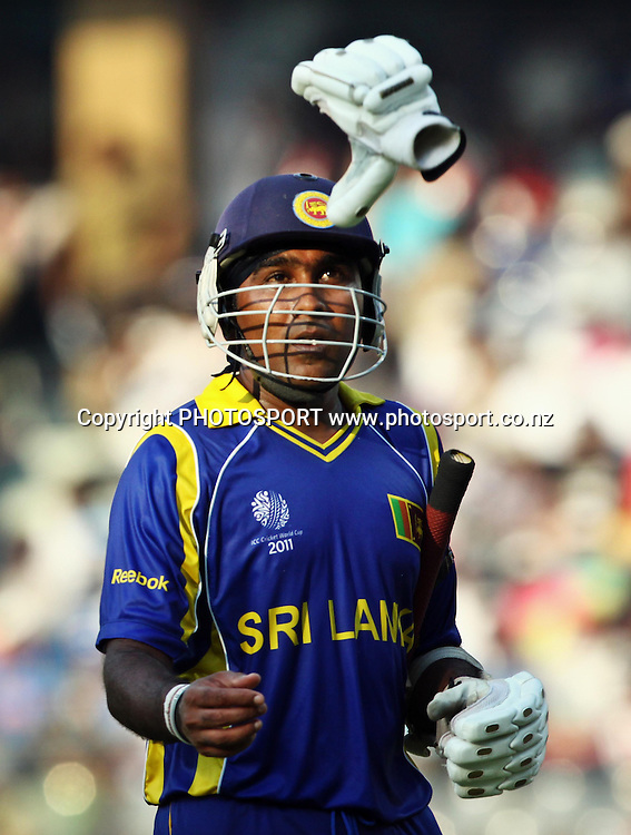 Sri Lankan batmans Mahela Jayawardane during a match against New Zealand  During the ICC Cricket World Cup - 38th Match, Group A Sri Lanka vs New Zealand  Played at Wankhede Stadium, Mumbai (neutral venue) 18 March 2011 - day/night (50-over match)