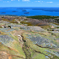 Vista from Cadillac Mountain in Acadia National Park, Maine<br />
