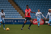 Brighton & Hove Albion central midfielder Rohan Ince (24)  during the EFL Trophy match between Coventry City and Brighton and Hove Albion at the Ricoh Arena, Coventry, England on 10 January 2017. Photo by Simon Davies.