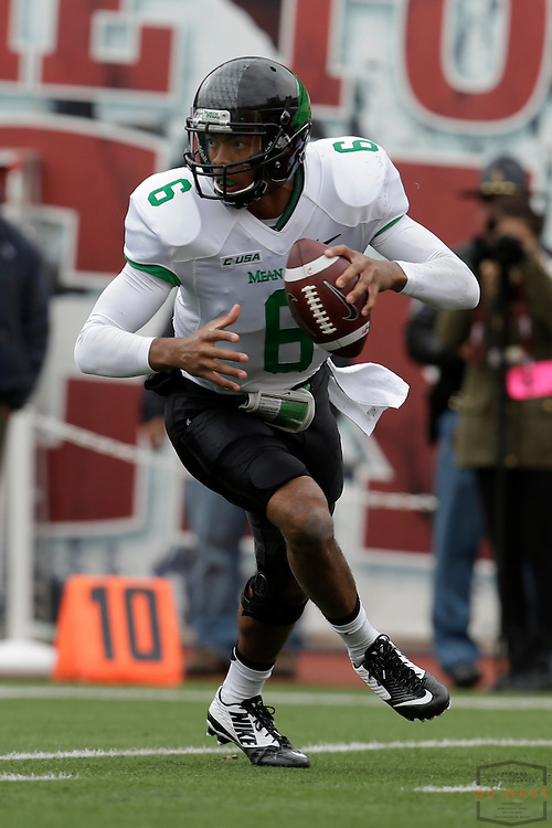 04 October 2014: North Texas Mean Green quarterback Dajon Williams (6)  as the Indiana Hoosiers played North Texas in a NCAA college football game in Bloomington, IN.