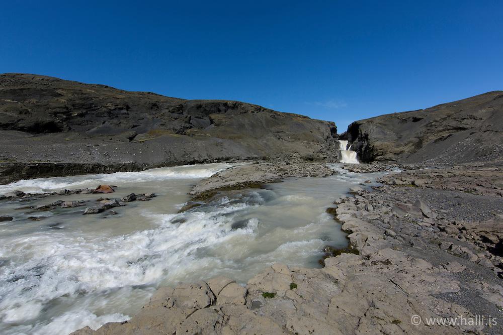 The waterfall Nyifoss at Hagavatn, highlands of Iceland - Nýifoss við Hagavatn