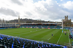 A general view of the Recreation Ground pitch - Mandatory byline: Patrick Khachfe/JMP - 07966 386802 - 01/03/2020 - RUGBY UNION - The Recreation Ground - Bath, England - Bath Rugby v Bristol Bears - Gallagher Premiership