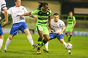 Clovis Kamdjo during the Glos Senior Cup Final match between Forest Green Rovers and Bishops Cleeve at the New Lawn, Forest Green, United Kingdom on 2 May 2016. Photo by Shane Healey.