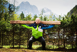 Andrej Hebar during COVID-19 home training, on April 20, 2020 in Mojstrana, Slovenia. Photo by Peter Podobnik / Sportida
