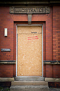 A boarded up and closed down magistrates court, Whitley Bay,  Northumberland. UK(photo by Andrew Aitchison / In pictures via Getty Images)