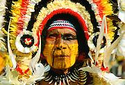 Man at Sing Sing tribal gathering  Mount Hagen, Papua New Guinea
