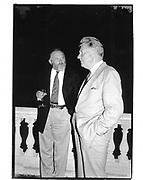 Edward Goldsmith and Paul Johnson. London. 1991. © Copyright Photograph by Dafydd Jones 66 Stockwell Park Rd. London SW9 0DA Tel 020 7733 0108 www.dafjones.com