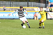 Forest Green Rovers Charlie Cooper(20)on the ball during the Vanarama National League match between Southport and Forest Green Rovers at the Merseyrail Community Stadium, Southport, United Kingdom on 17 April 2017. Photo by Shane Healey.