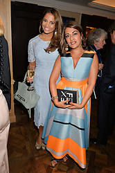 Left to right, KATY WICKREMESINGHE and NAZY VASSEGH at a the Fortnum's X Frank private view - an instore exhibition of over 60 works from Frank Cohen's collection at Fortnum & Mason, 181 Piccadilly, London on 12th September 2016.