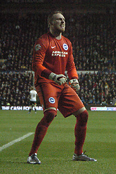 Brightons Goalkeeper David Stockdale Celebrates on the Final Whistle to his Fans,  Derby County v Brighton &Hove Albion, IPro Stadium, Sky Bet Championship,  Saturday 12th December 2015
