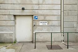 Exterior view of entrance to gay nightclub Lab.oratory in Berlin, German