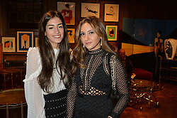 ***UK_MAGAZINES_OUT***<br /> LONDON, ENGLAND 30 NOVEMBER 2016: <br /> Left to right, Sara Tamimi, Tara Sahni at the launch of In The Spirit of Gstaad at Maison Assouline, Piccadilly, London hosted by Mandolyna Theodoracopulos and Homera Sahni England. 30 November 2016.