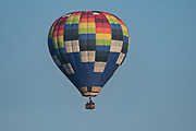 A hot air balloon at sunrise outside the colonial city of San Miguel de Allende, Mexico.