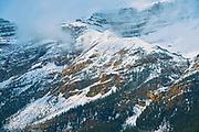 Crowfoot Mountain at Bow Lake<br />Banff National Park<br />Alberta<br />Canada