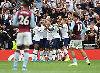 Football - 2019 / 2020 Premier League - Tottenham Hotspur vs. Aston Villa<br /> <br /> Tottenham Hotspur's Harry Kane celebrates scoring his side's third goal, at The Tottenham Hotspur Stadium.<br /> <br /> COLORSPORT/ASHLEY WESTERN