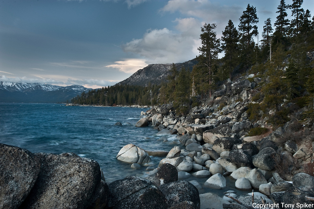 """East Shore Lake Tahoe 1"" - An evening at Lake Tahoe's East Shore looking towards Chimney Beach"