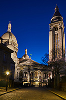 France, Paris (75), colline de Montmartre, la basilique du Sacré Coeur // France, Paris, Montmartre, the Sacré Coeur Basilica