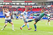 Coventry City goalkeeper Marko Morosi clear the area  during the EFL Sky Bet League 1 match between Bolton Wanderers and Coventry City at the University of  Bolton Stadium, Bolton, England on 10 August 2019.
