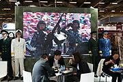 France, Paris, 12 Juin 2018. Eurosatory 2018, Salon international de Défense et Sécurité. Stand XinXing Jihua International.