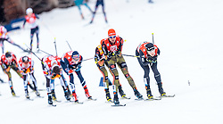 18.12.2016, Nordische Arena, Ramsau, AUT, FIS Weltcup Nordische Kombination, Langlauf, im Bild Bjoern Kircheisen (GER), Tim Hug (SUI) // Bjoern Kircheisen of Germany, Tim Hug of Switzerland during Cross Country Competition of FIS Nordic Combined World Cup, at the Nordic Arena in Ramsau, Austria on 2016/12/18. EXPA Pictures © 2016, PhotoCredit: EXPA/ JFK