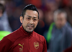 LIVERPOOL, ENGLAND - Saturday, December 29, 2018: Arsenal's Takahiro Yamamoto during the FA Premier League match between Liverpool FC and Arsenal FC at Anfield. (Pic by David Rawcliffe/Propaganda)