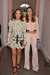 Lady Eliza Manners and Lady Alice Manners at the Tatler's English Roses 2017 party in association with Michael Kors held at the Saatchi Gallery, London England. 29 June 2017.<br /> Photo by Dominic O'Neill/SilverHub 0203 174 1069 sales@silverhubmedia.com