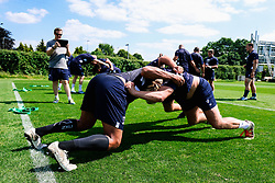 Forwards in action during week 1 of Bristol Bears pre-season training ahead of the 19/20 Gallagher Premiership season - Rogan/JMP - 03/07/2019 - RUGBY UNION - Clifton Rugby Club - Bristol, England.