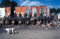 El Salvador guerillas after taking a town during the civil war- photograph by Owen Franken