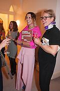 VALERIA NAPOLEONE;  SILKE OTTO-KNAPP , Valeria Napoleone hosts a dinner at her apartment e to celebrate the publication of her book  Valeria Napoleone's Catalogue of Exquisite Recipes. Palace Green. Kensington. London. 28 September 2012.