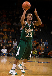 South Florida guard Jesus Verdejo (23) in action against UVA.  The Virginia Cavaliers defeated the South Florida Bulls 77-75 at the University of Virginia's John Paul Jones Arena in Charlottesville, VA on November 19, 2008.