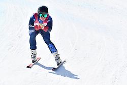 WHITLEY James LW5/7-3 GBR competing in ParaSkiAlpin, Para Alpine Skiing, Super G at PyeongChang2018 Winter Paralympic Games, South Korea.