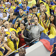 Colombian fans during the Columbia Vs Canada friendly international football match at Red Bull Arena, Harrison, New Jersey. USA. 14th October 2014. Photo Tim Clayton