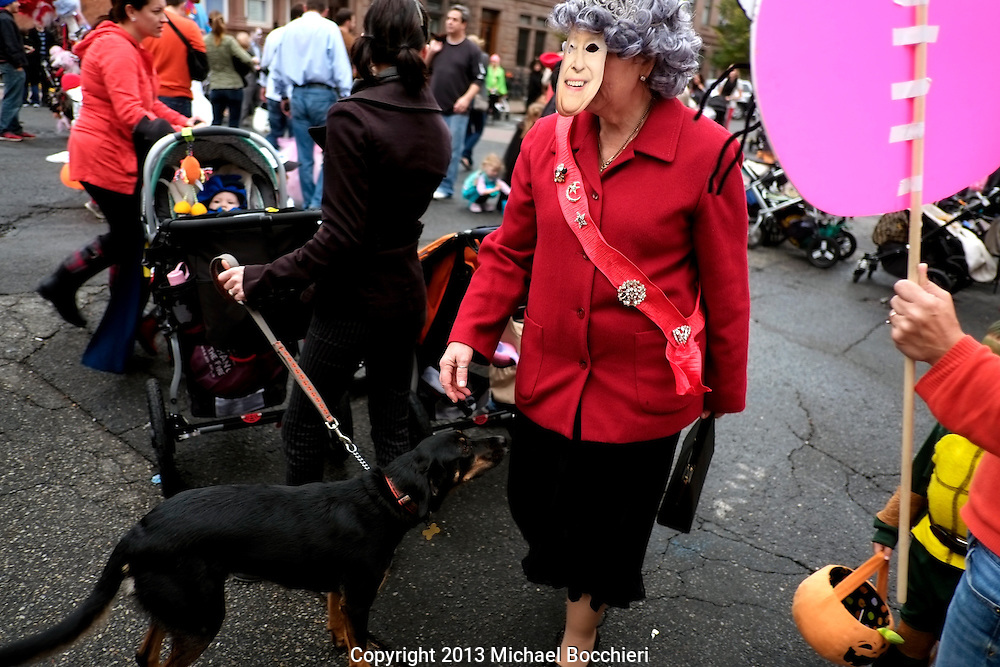 HOBOKEN, NJ - October 31:  Hoboken Halloween Ragamuffin Parade on October 31, 2013 in HOBOKEN, NJ.  (Photo by Michael Bocchieri/Bocchieri Archive)