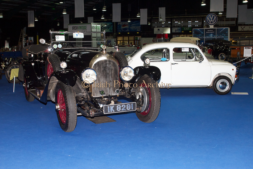 RIAC Classic Car Show 2013, RDS, 1925 3 Litre Bentley. The first Bentley motor car made its appearance in September 1921. A total of 3,000 were produced before the company went into receivership in 1931 and was taken over by Rolls Royce. Of these about 1,600 were 3 litre cars. Bentley won the famous Le Mans race five times in 1924, 1926, 1927, 1929 and 1930. Irish, Photo, Archive.