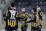 G&Ouml;TEBORG, SVERIGE - 2018-01-23: Mervan Celik i BK H&auml;cken jublar efter att ha gjort 2-0 under tr&auml;ningsmatchen mellan BK H&auml;cken och Utsiktens BK p&aring; Bravida Arena den 23 januari 2018 i G&ouml;teborg, Sverige. <br /> Foto: Nils Petter Nilsson/Ombrello<br /> ***BETALBILD***