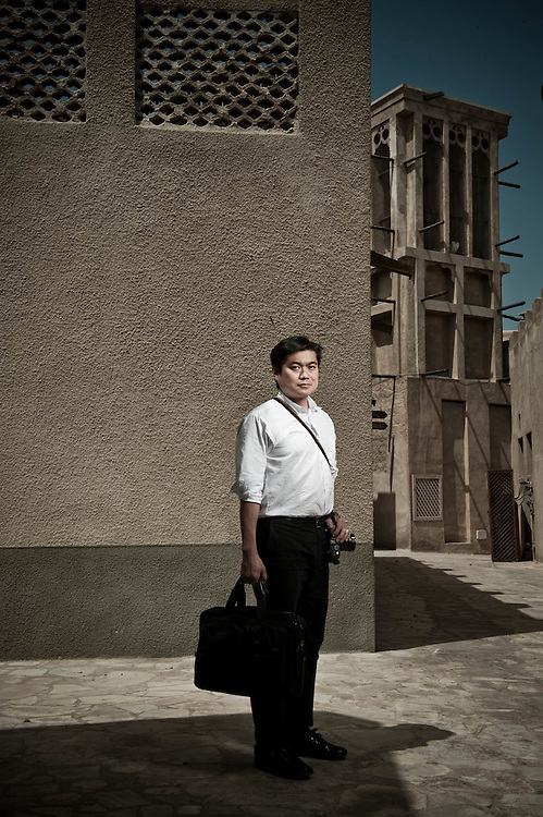Joichi Ito (Joi Ito), CEO of Creative Commons, entrepreneur and venture capitalist in a portrait at the Bastakiya area of Dubai on April 2, 2010.