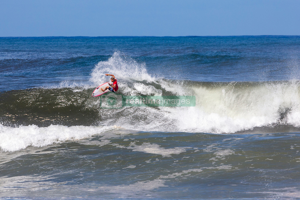 Ricardo Christie of Portugal advances in 1st to Round 3 from Round 2 Heat 7 of the Hawaiian Pro at Haleiwa, Oahu, Hawaii, USA