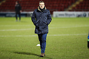Forest Green Rovers manager, Mark Cooper during the EFL Sky Bet League 2 match between Crewe Alexandra and Forest Green Rovers at Alexandra Stadium, Crewe, England on 20 March 2018. Picture by Shane Healey.