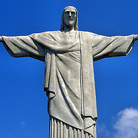 Christ the Redeemer Statue on Corcovado Mountain in Rio de Janeiro, Brazil<br />