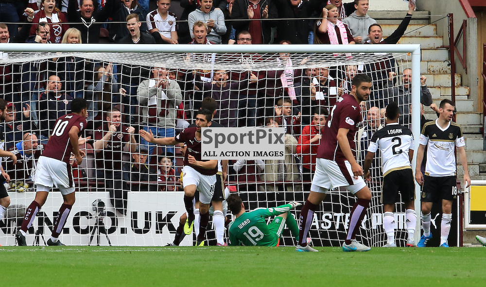 Heart's Igor Rossi pull one back for hearts during the Heart of Midlothian FC  V Aberdeen FC  Scottish Premiership  20th September 2015  ©Edward Linton | SportPix.org.uk