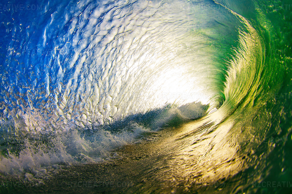 Water shot of the inside of a breaking wave at sunrise at Aliso Creek in Orange County, California. Photo by Robert Zaleski/rzcreative.com