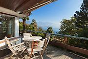 veranda of a mountain home, exterior view