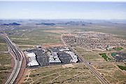 A big-box shopping center on the highway outside of Phoenix, AZ