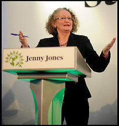 Green Party Candidate Jenny Jones during the Evening Standard Mayoral Debate, during the Mayoral Campaign, April 11, 2012. Photo By Andrew Parsons/I-images